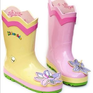 Kidorable Girls Lotus Flower Rain Boots Many Sizes